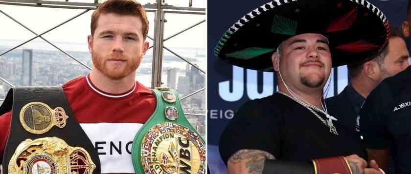 , Saúl Álvarez y Andy Ruiz, la cara del deporte mexicano en el mundo