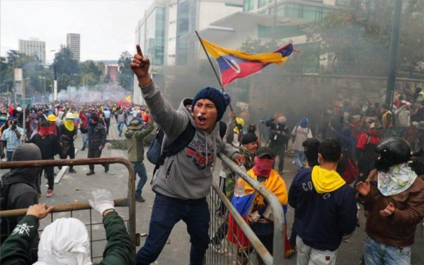 , Toque de queda en Ecuador por protestas