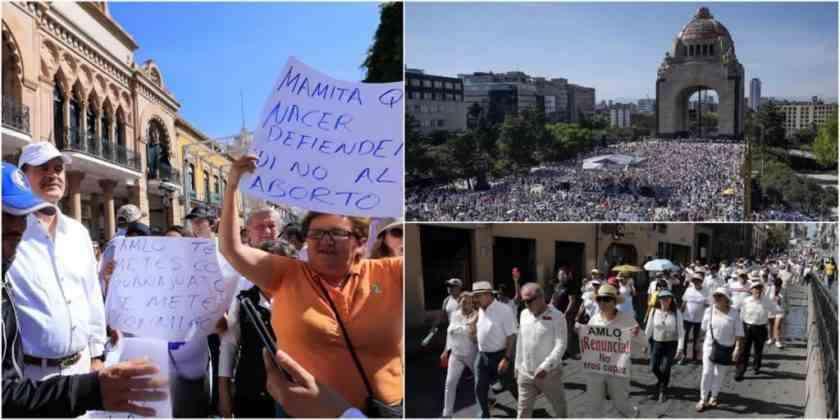 , En 18 estados hubo marchas anti AMLO